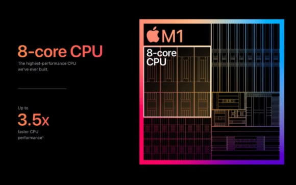 AppleシリコンM1チップは世界最高峰のCPU性能