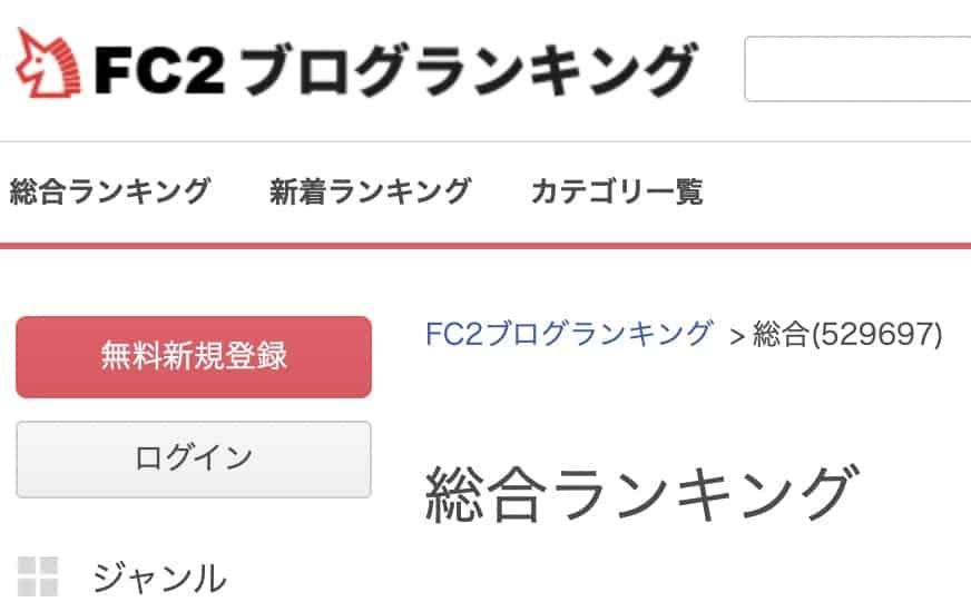 FC2ブログランキングに登録するためにFC2IDに登録する無料の方法