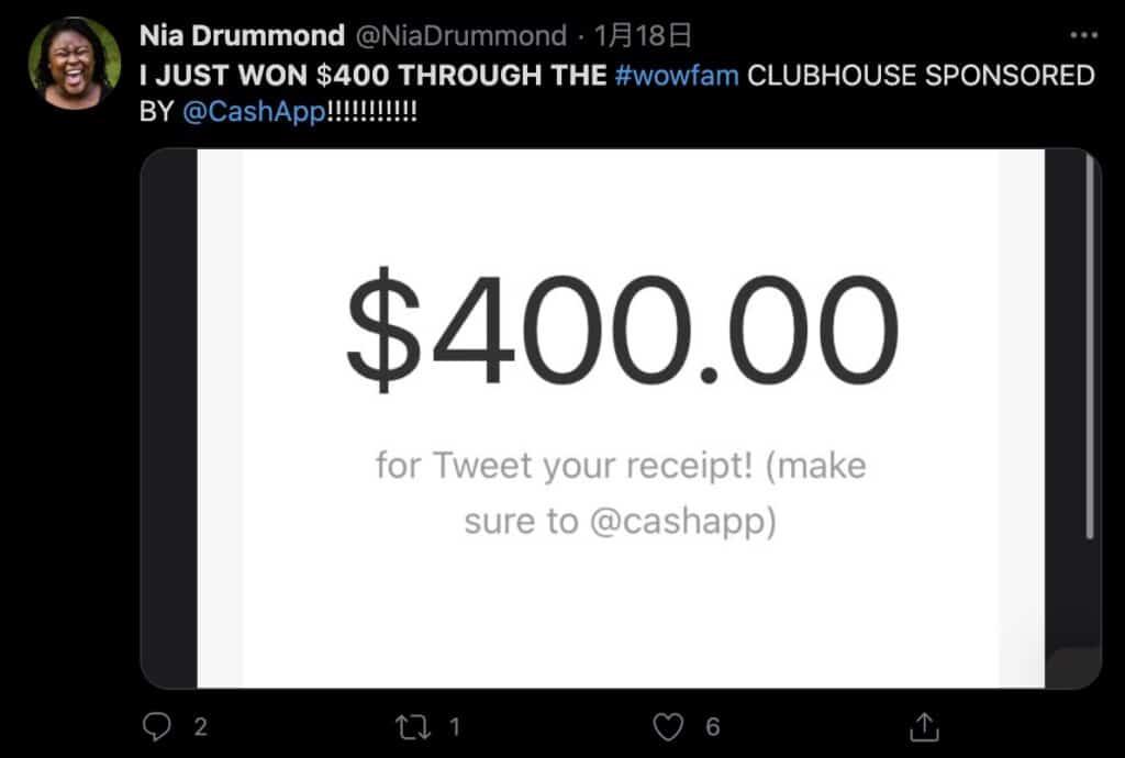 Clubhouseの投げ銭機能で稼ぐ方法(CashAppとの連携)